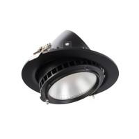 LED-Strahler Samsung 120lm/W Ausrichtbar Rund 38W Schwarz