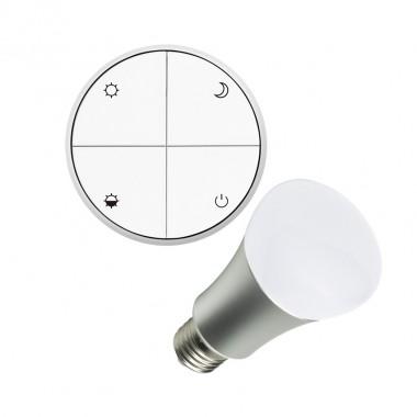 wireless lichtschalter reguliebar set mit led gl hbirne 8w. Black Bedroom Furniture Sets. Home Design Ideas
