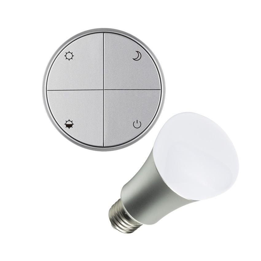 wireless lichtschalter silber regulierbar set mit led. Black Bedroom Furniture Sets. Home Design Ideas