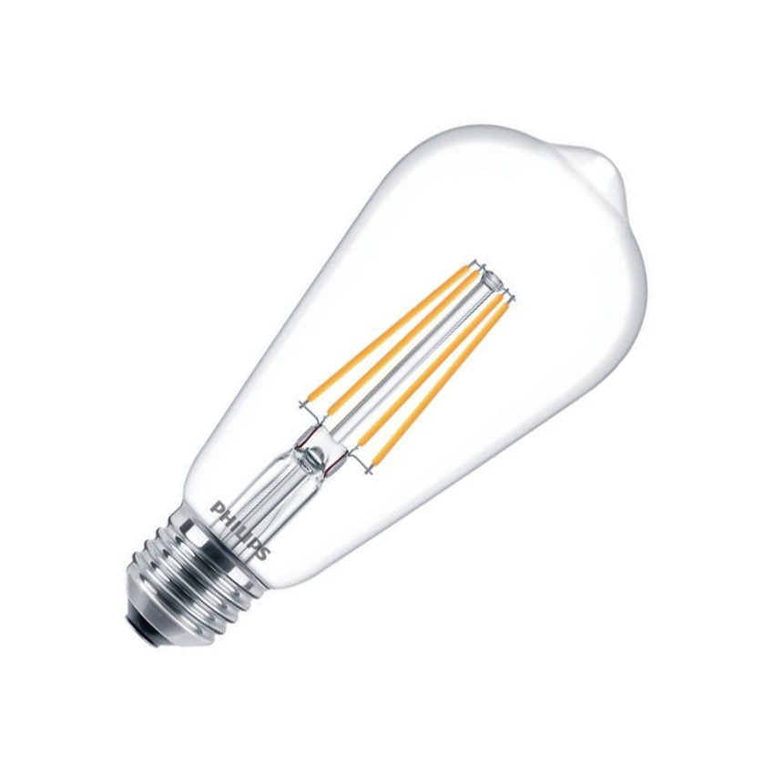 LED Lampe E27 ST64 Filament Philips CLA 7W - Ledkia Deutschland
