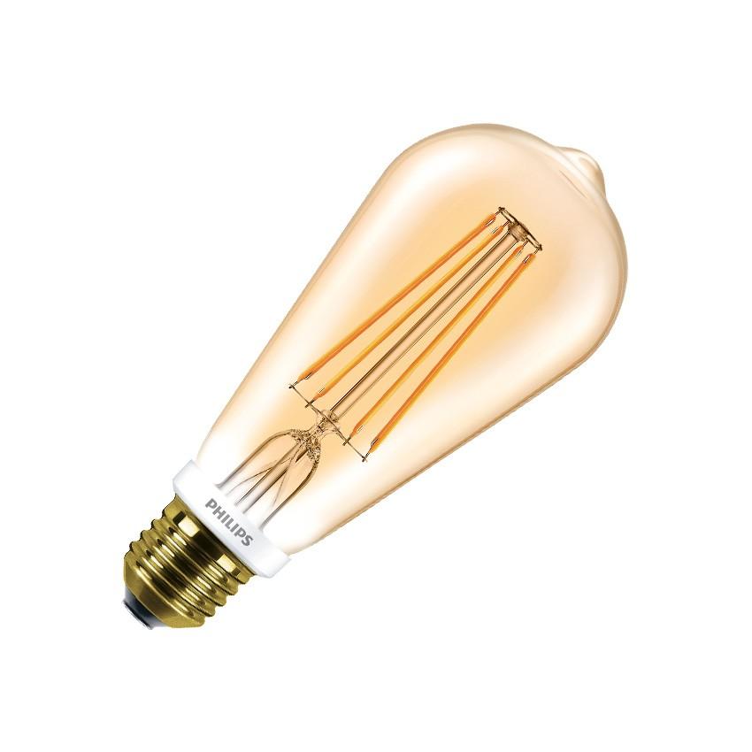 led lampe e27 dimmbar filament philips cla st64 7w gold ledkia deutschland. Black Bedroom Furniture Sets. Home Design Ideas