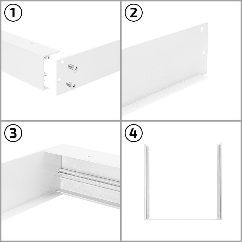 befestigungsset oberfl che f r led panels 120x60cm ledkia deutschland. Black Bedroom Furniture Sets. Home Design Ideas