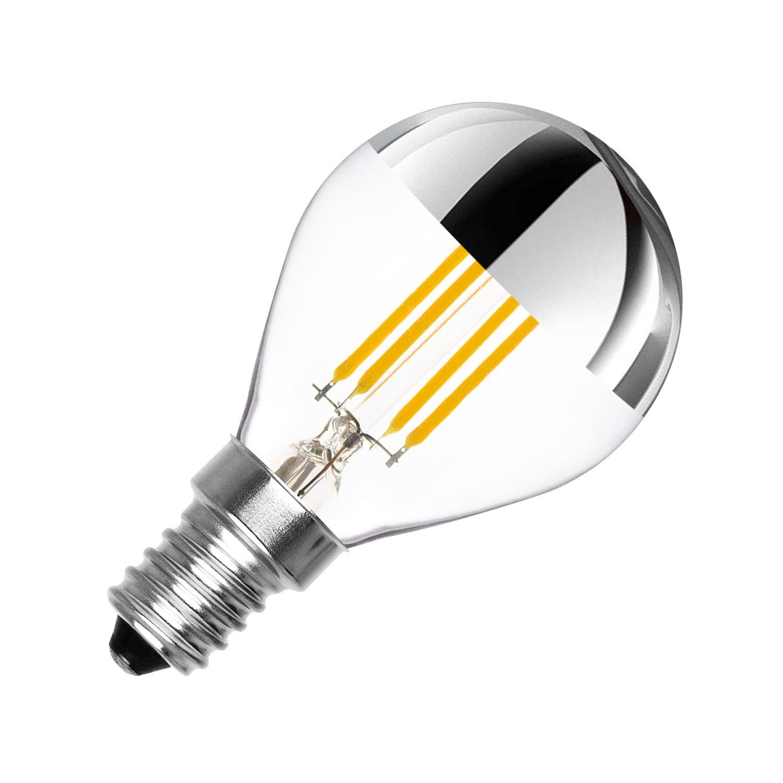 LED Lampe E14 Dimmbar Filament Reflect G45 3.5W - Ledkia Deutschland