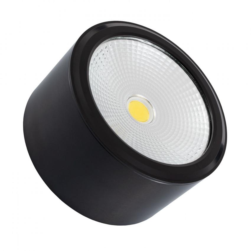 LED Deckenleuchte Rund Style COB 12W Schwarz   LEDKIA