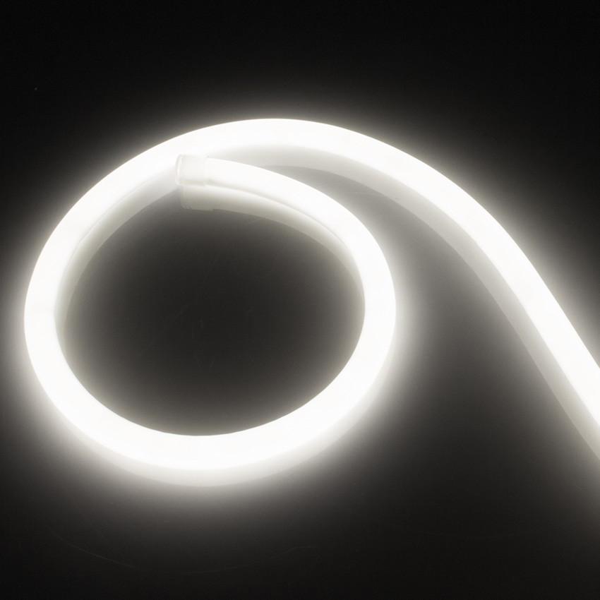 LED-Streifen Neon Dimmbar 220V AC 120 LED/m Rund 360 Neutrales Weiss IP67 nach Mass