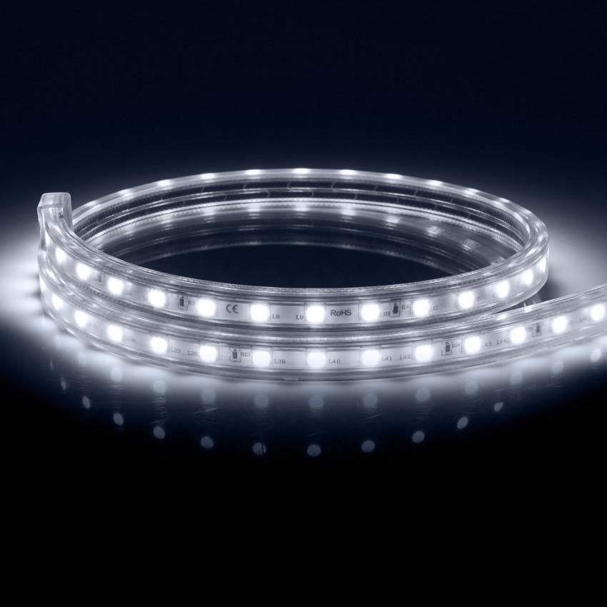 LED-Streifen Dimmbar 220V AC 60 LED/m Kaltes Weiss IP65 nach Mass Schnitt jede 100cm
