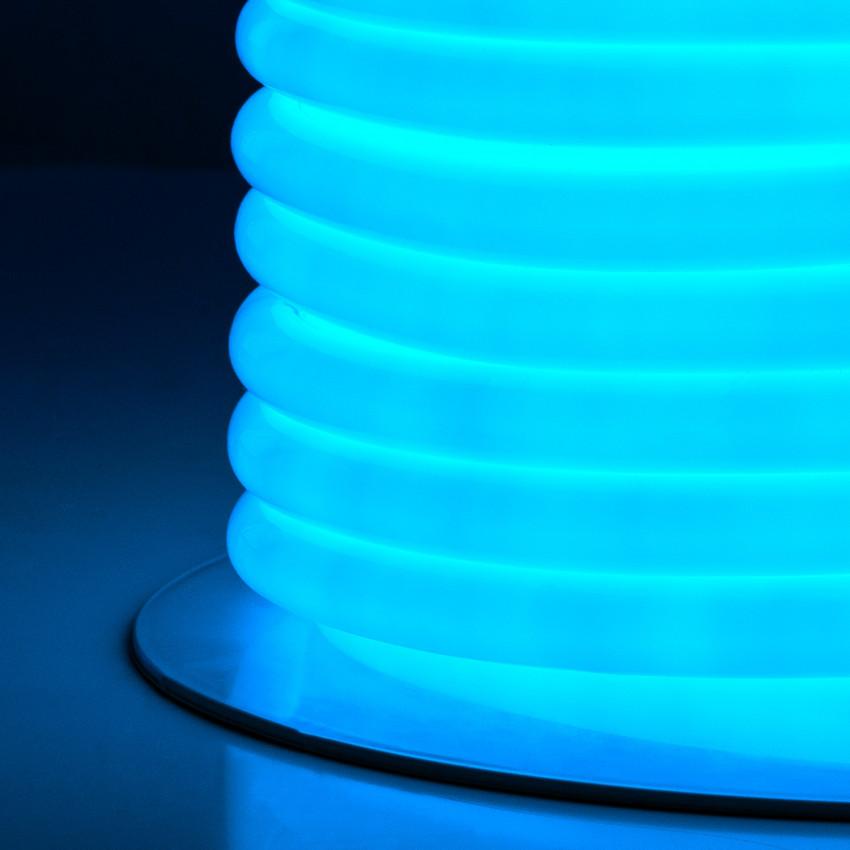 LED-Streifenrolle Flexibel Rund 360 120LED/m Blau 50 Meter