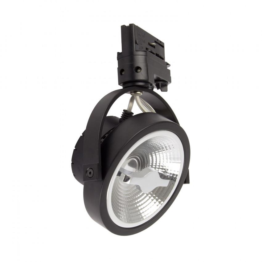 Spot LED CREE AR111 15W Noir Dimmable pour Rail Triphasé (3 Allumages)