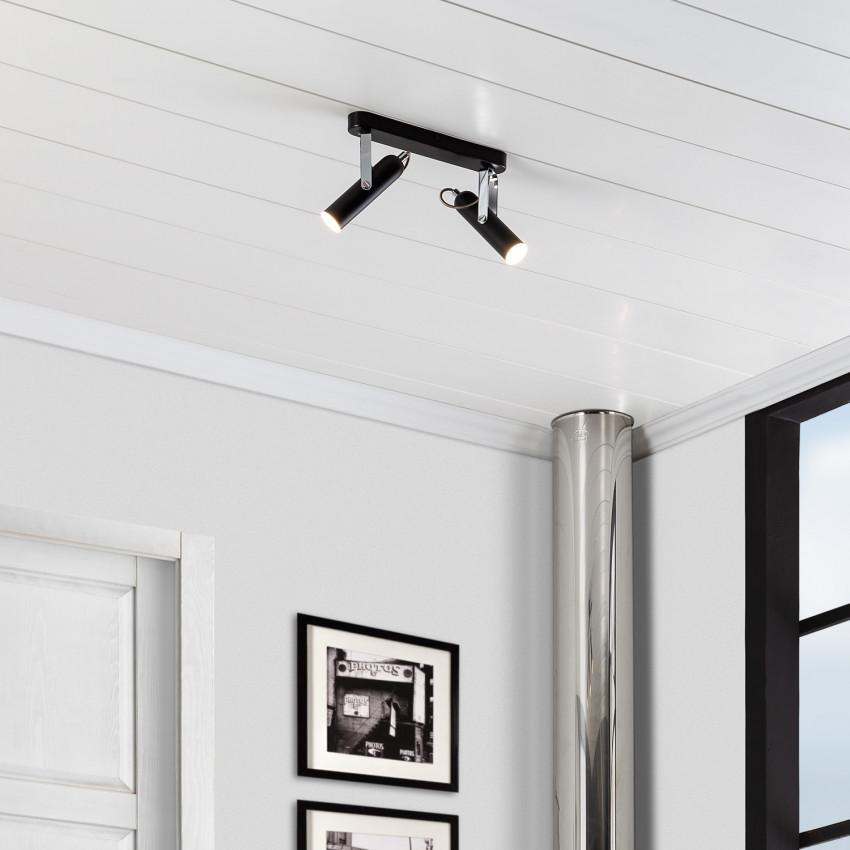 Plafonnier LED Orientable Big Bari 2 Spots 8W
