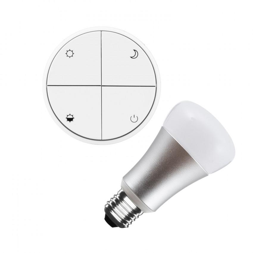 Kit Poussoir Sans Fils Dimmable + Ampoule LED 8W