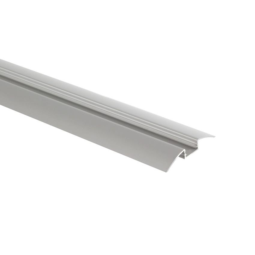 Profilé Aluminium en Saillie Semi-Circulaire 1m pour Rubans LED