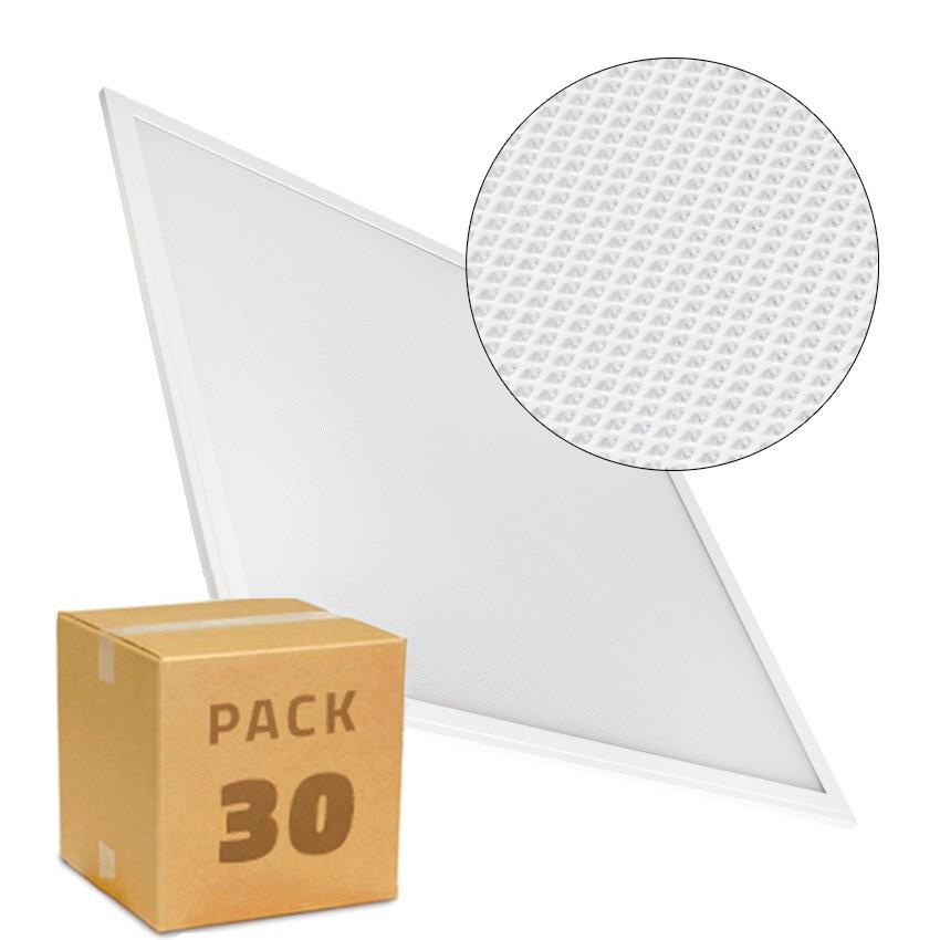 PACK Paneles LED Slim 60x60cm 40W 4000lm Marco Blanco (UGR17) (30x)