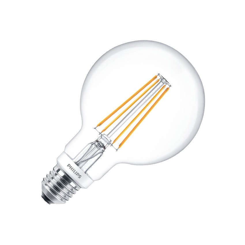 Ampoule LED E27 G93 Dimmable PHILIPS Filament Globe CLA 8W