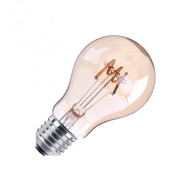 Ampoule LED E27 Dimmable Filament Spirale Gold Classic A60 4W