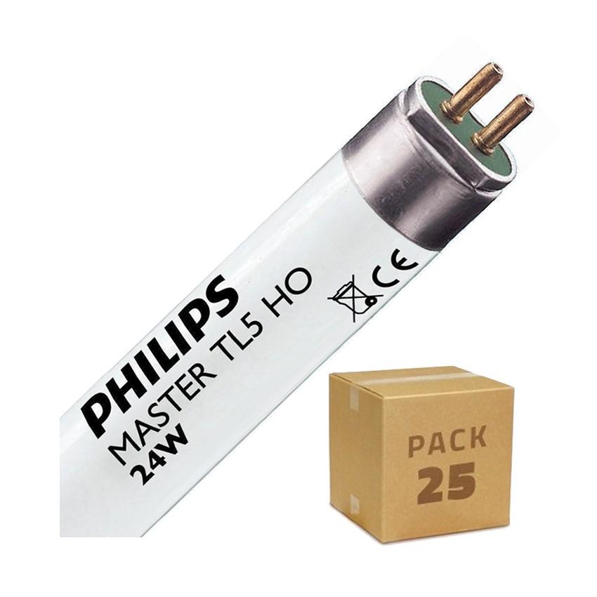 Pack Tube fluorescent Dimmable PHILIPS T5 HO 550mm Connexion des 2 côtés 24W (25 Un)