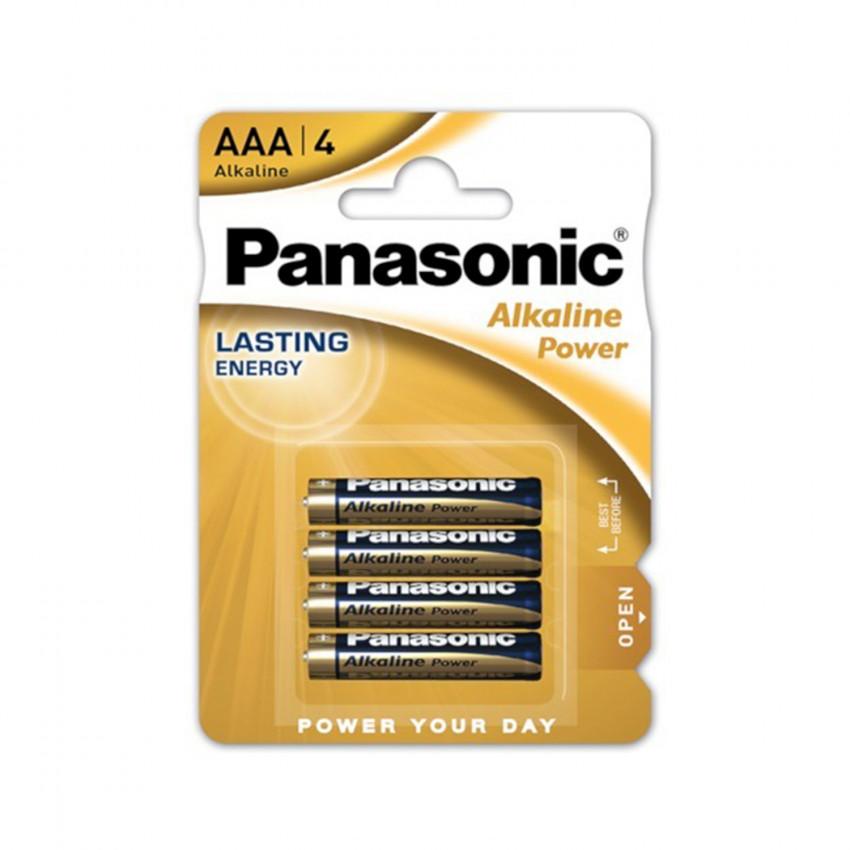 Blister 4 Piles Alcalines Panasonic AAA LR03 1,5 V