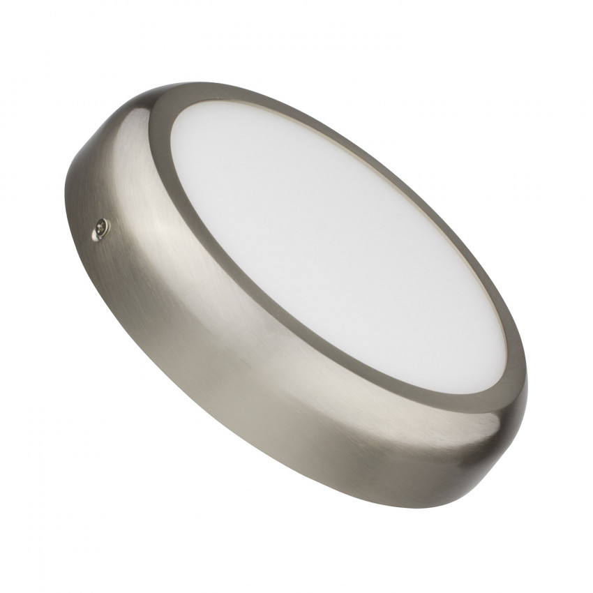 Plafonnier LED Rond Design 18W Silver