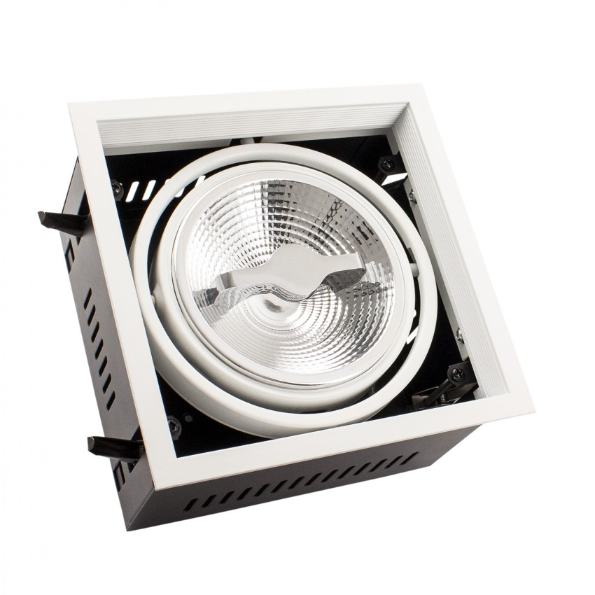 Spot Downlight LED CREE-COB Orientable AR111 15W Dimmable Coupe 155x155mm