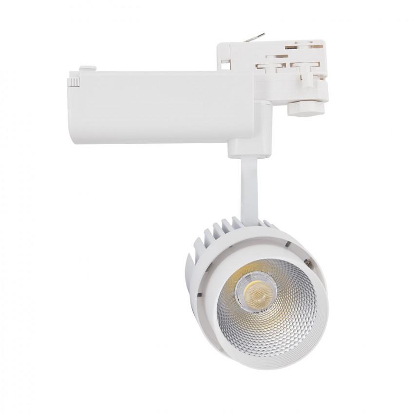 Spot LED Dora 30W Blanc pour Rail Triphasé (3 Allumages)