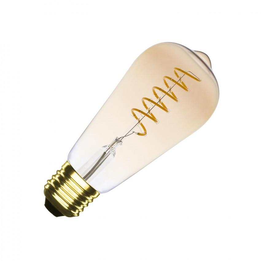 Ampoule LED E27 Dimmable Filament Spirale Gold Big Lemon ST64 4W