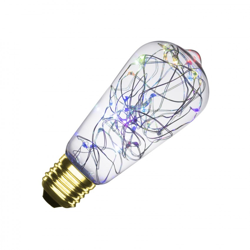 Ampoule LED E27 Dimmable Filament Lum Lemon RGB ST58 1W