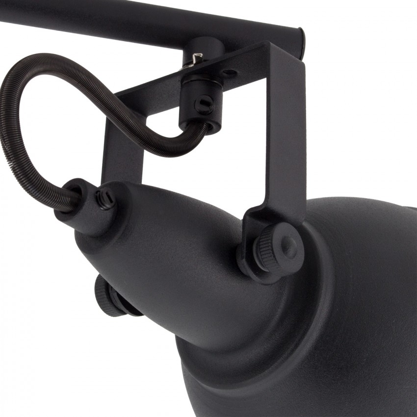 lampe de plafond orientable emer 2 spots noir ledkia france. Black Bedroom Furniture Sets. Home Design Ideas