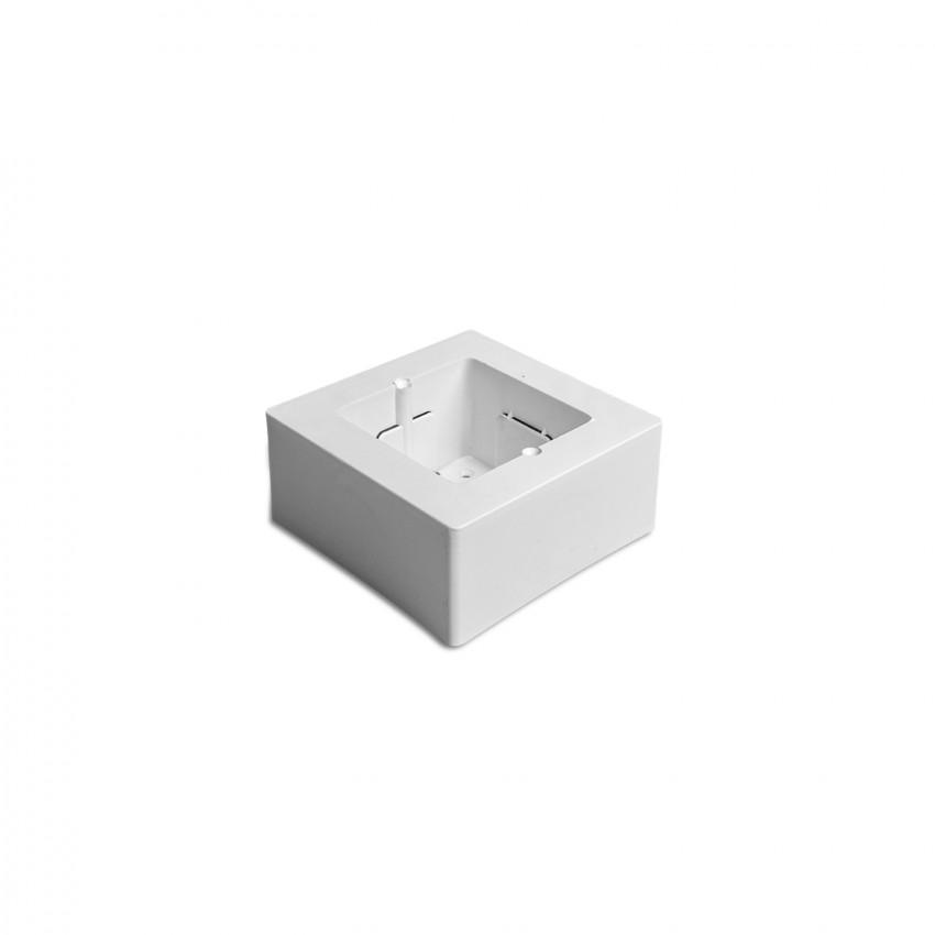 Boîtier Simple Universel Blanc Saillie pour Appareillage 92x92x42 mm