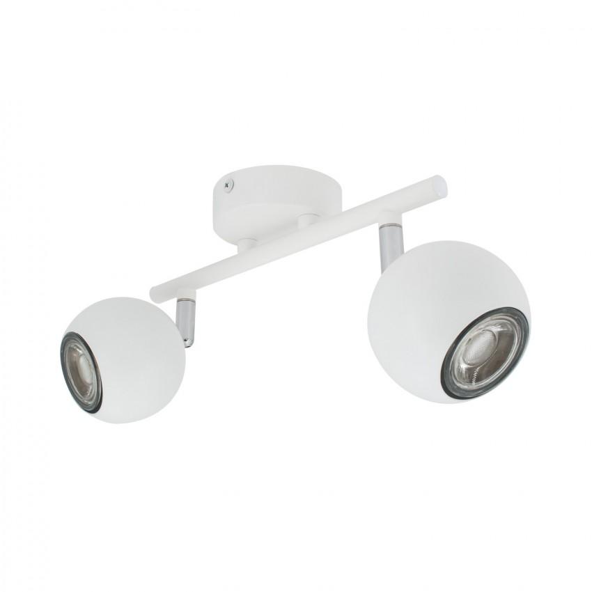 Plafonnier Orientable Ates 2 Spots Blanc