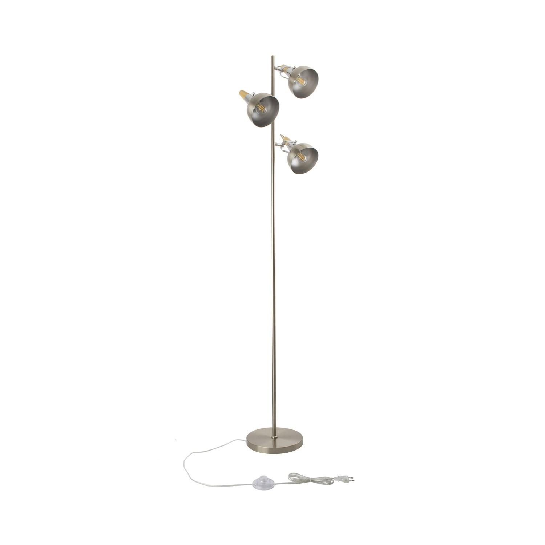Lámpara de Pie Emer 3x Plata