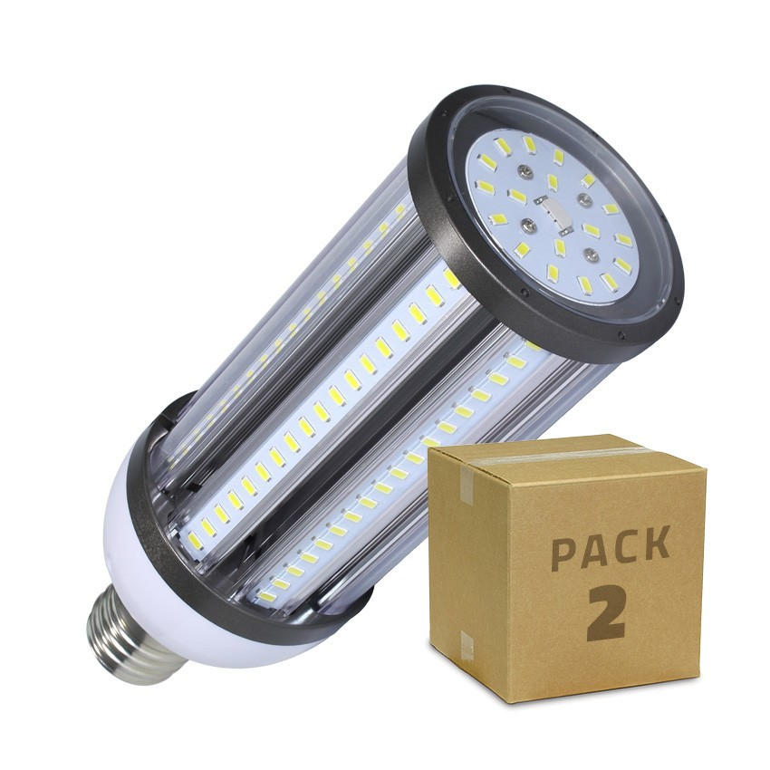 PACK Lampe LED Éclairage Public Corn E40 54W (2 Un)
