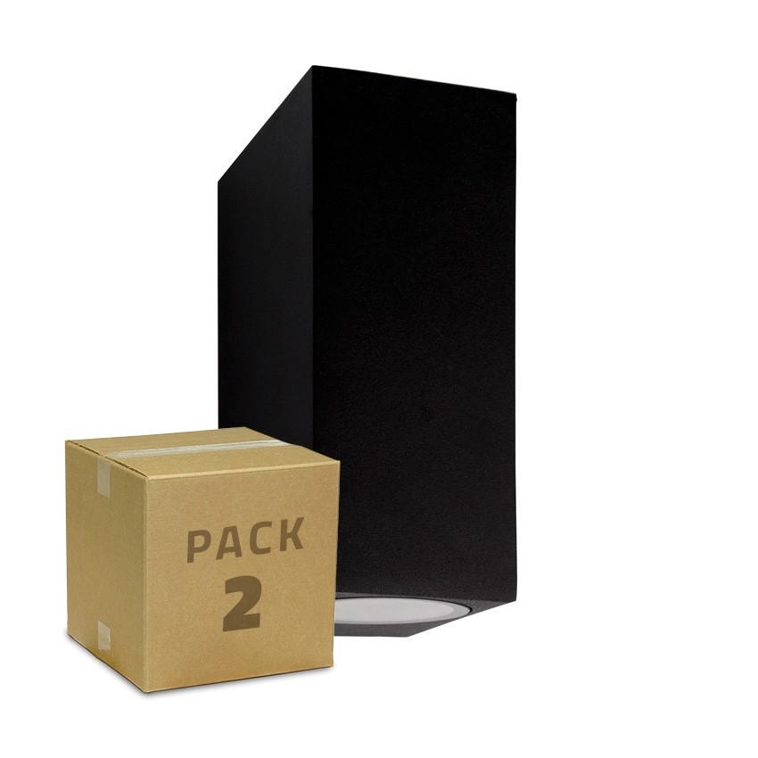 PACK Applique Miseno Noire Éclairage Double Face (2 Un)