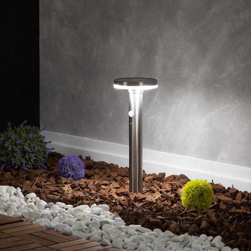 Balise LED Solaire Inox Helios avec Détecteur de Présence PIR