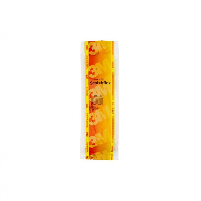 Pack Colliers de Serrage Scotchflex™ 3M™ FS 140 B-C 3,5mm x 140mm (100 Un)