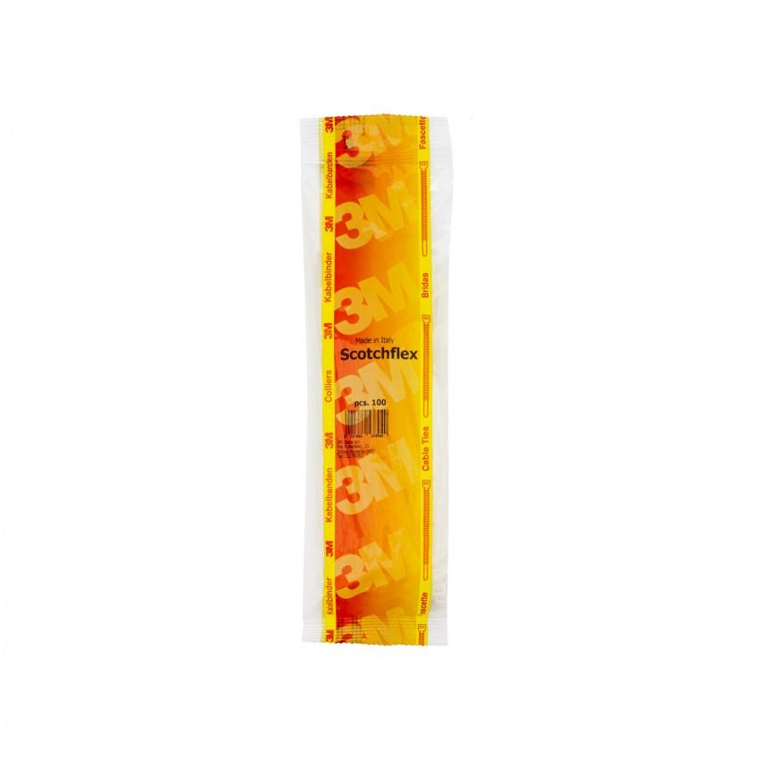 Pack Colliers de Serrage Scotchflex™ 3M™ FS 200 B-C 3,5mm x 200mm (100 Un)