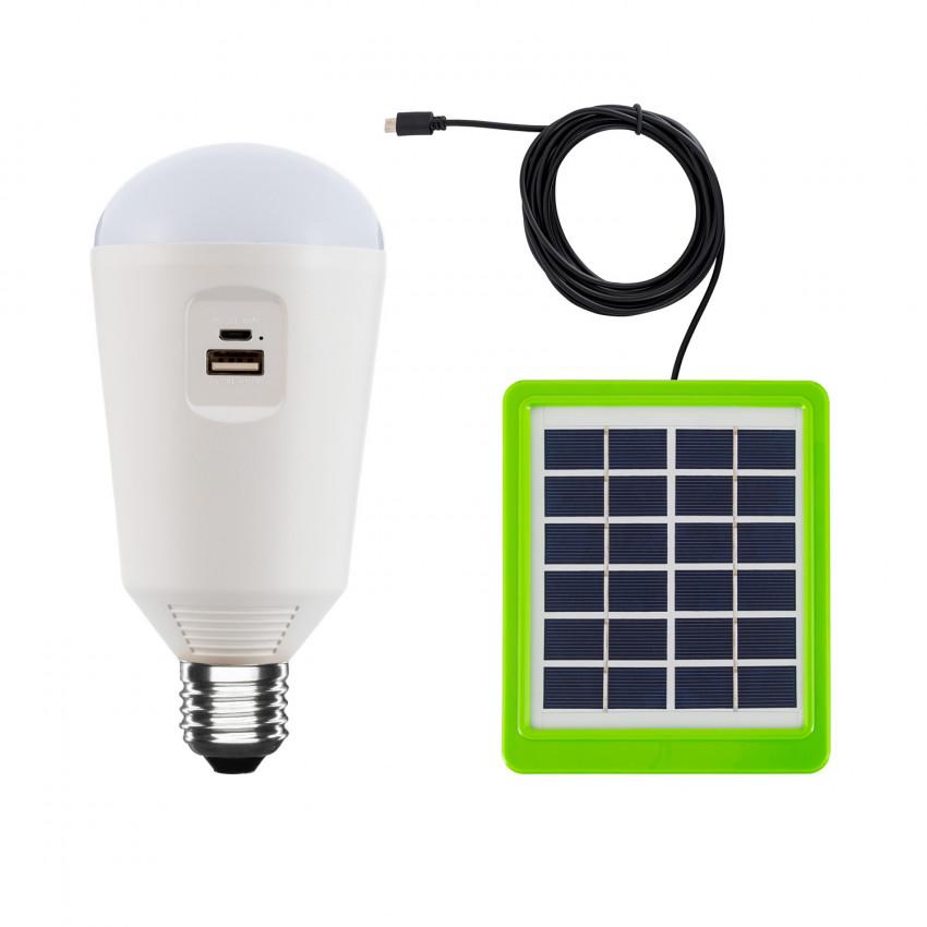 Ampoule LED E27 Portative avec Chargeur Solaire 7W
