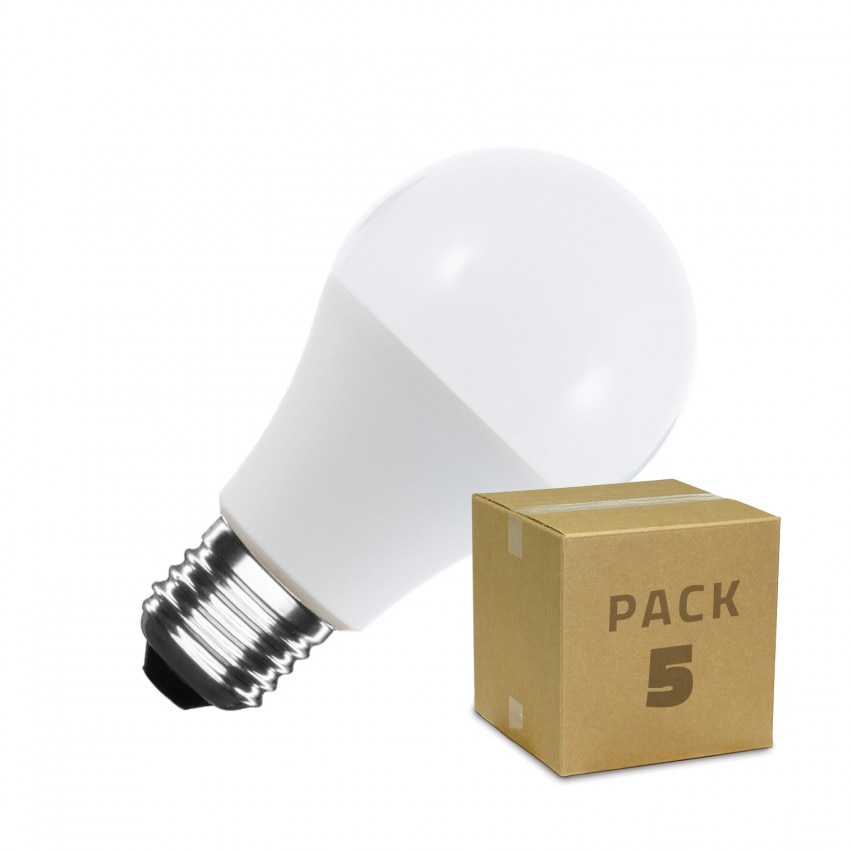 Pack Ampoules LED E27 A60 6W (5 Un)