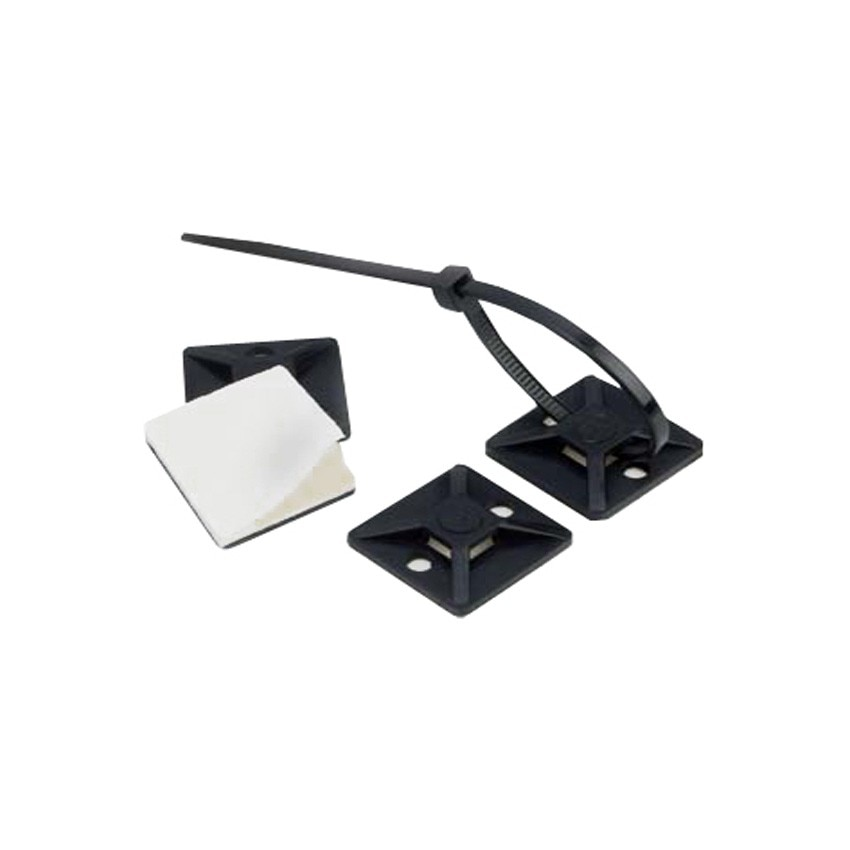 Pack Embases Adhésives pour Colliers de Serrage Scotchflex™ 3M™ CTA BC 19 x 19mm (100 Un)