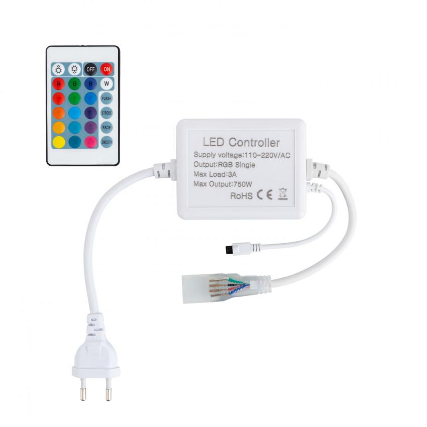 Contrôleur Rubans LED RGB 220V AC Télécommande IR 24 Touches