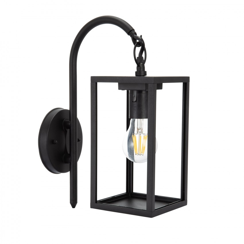 Lampe Murale Support Supérieur Atrium Noire