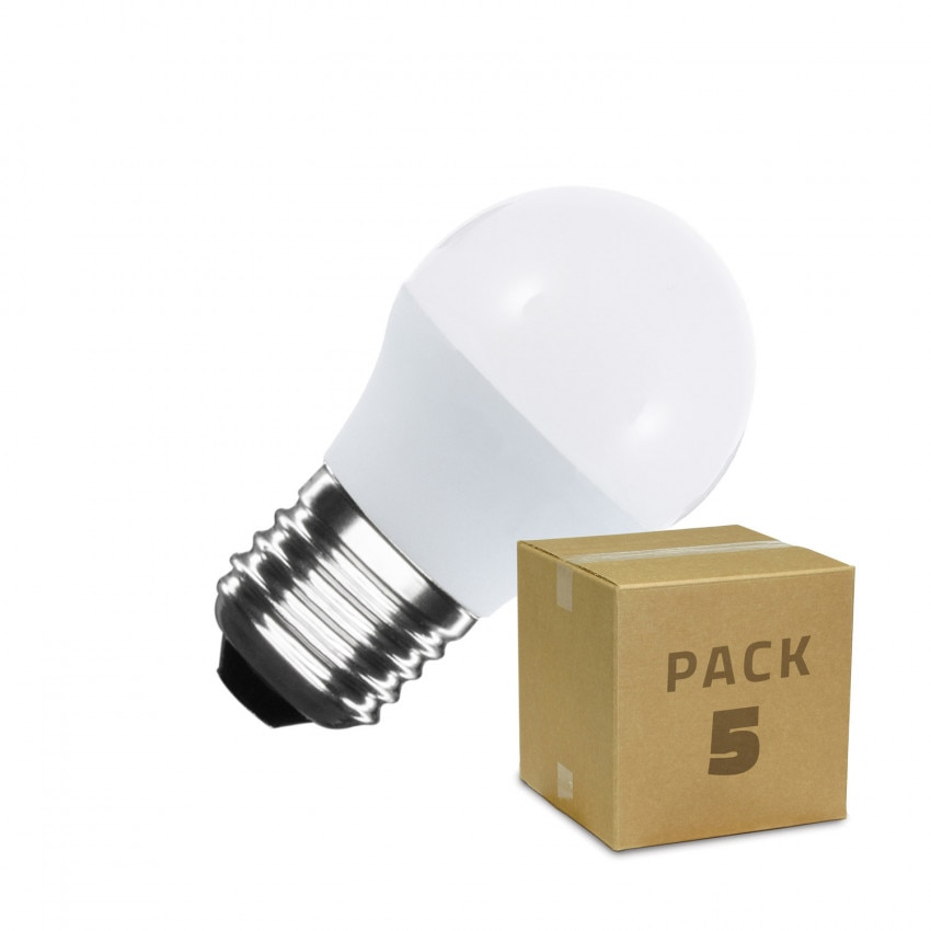 Pack Ampoule LED E27 G45 5W (5 Un)