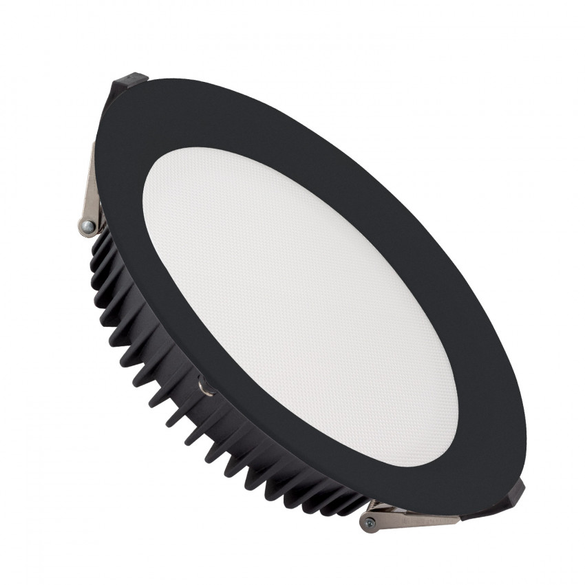 Downlight LED SAMSUNG New Aero 24W Microprismatique (UGR17) 4000K LIFUD Noir Coupe Ø 185 mm