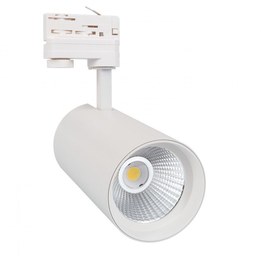 Spot LED New d'Angelo 30W Blanc CCT LIFUD pour Rail Triphasé (3 Allumages) (CRI 90)