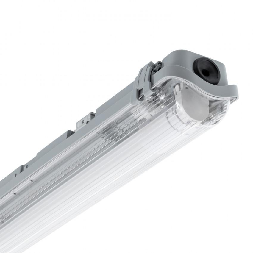 Réglette Étanche Slim pour un Tube LED 1200mm PC/PC Connexion Latérale