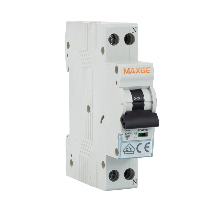 Disjoncteur Automatique Résidentiel MAXGE 1P+N-6kA 6-40A 1 Module DPN