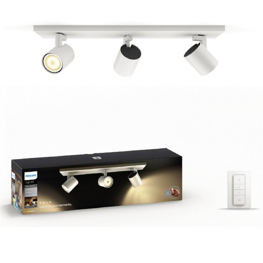 Plafonnier LED CCT PHILIPS Runner 3 Spots