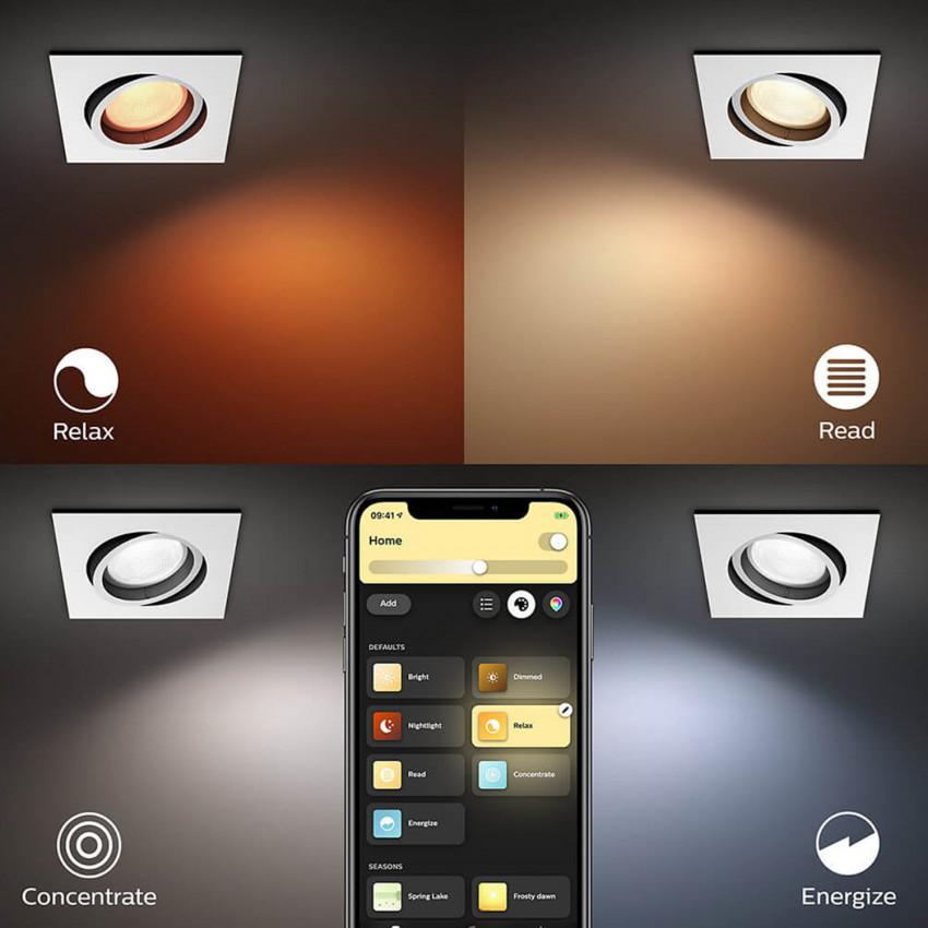 Downlight Cuadrado LED RGBW PHILIPS Hue White Color Centura 6W