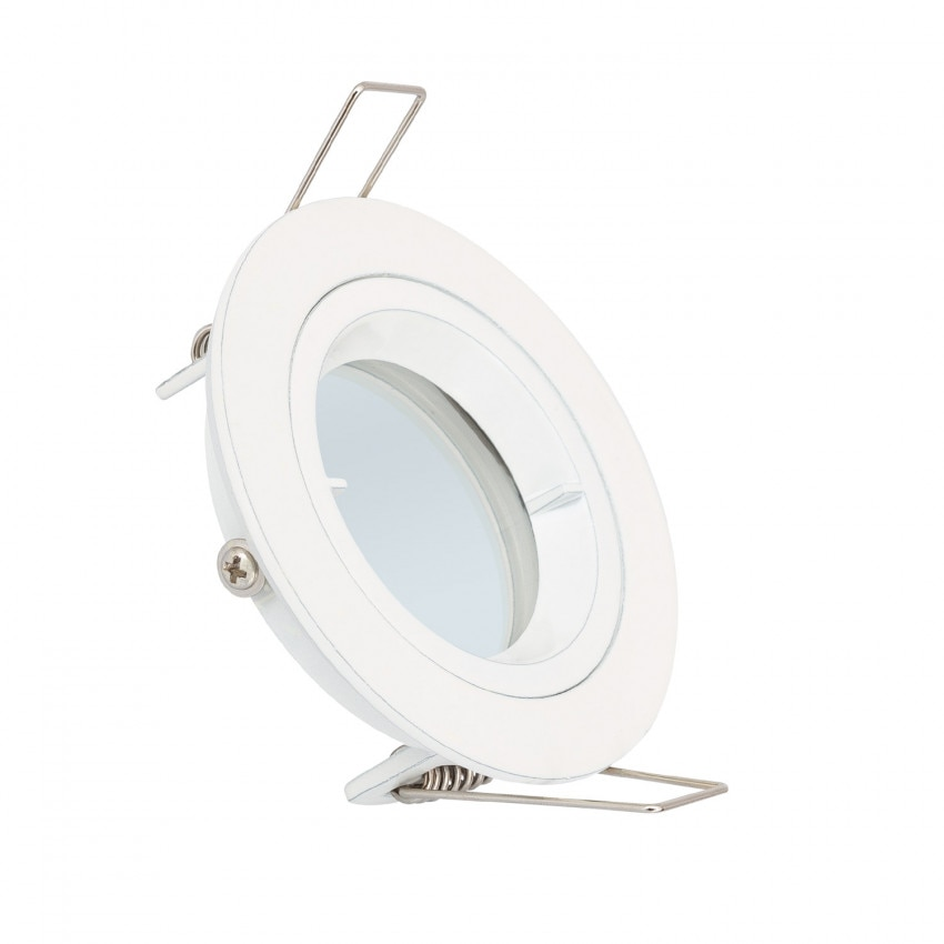 Collerette Ronde Downlight Blanche pour Ampoule LED GU10 / GU5.3