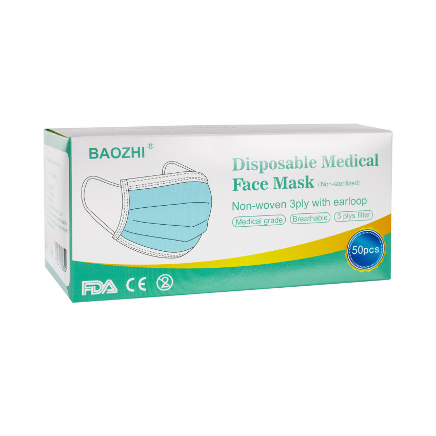 Pack 50 Masques 3 Couches Protection COVID-19