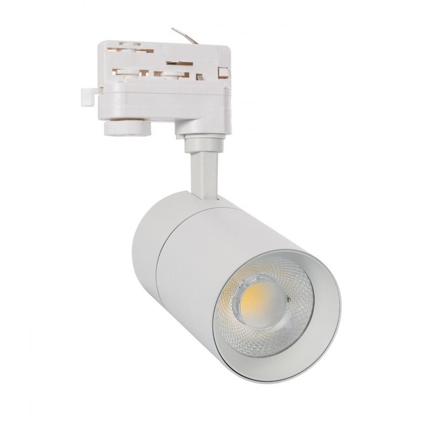 Spot LED Dimmable New Mallet 30W Blanc pour Rail Triphasé (3 Allumages)