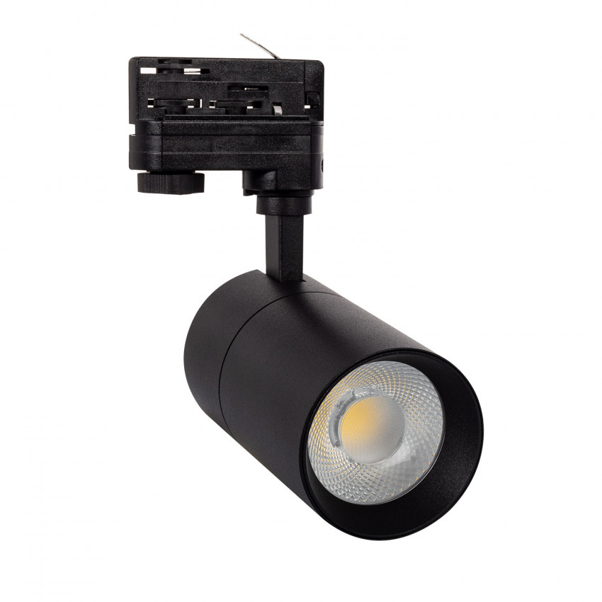 Spot LED Dimmable New Mallet 30W Noir pour Rail Triphasé (3 Allumages)